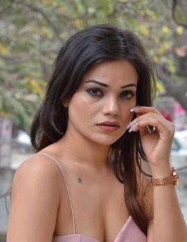 Aakarshika Goyal Stills at Naa Peru Raja Movie Teaser Launch
