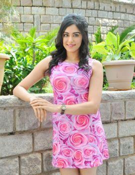 Adah Sharma in Floral Dress Stills at Garam Movie Press Meet