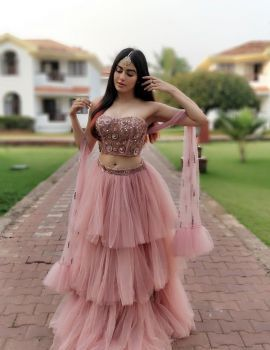 Adah Sharma Stills in Wedding Outfit by Yoshita Couture