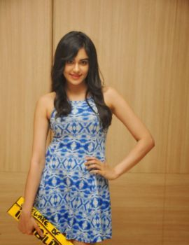 Heart Attack Telugu Movie Actress Adah Sharma in Trendy Blue Frock