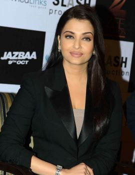 Aishwarya Rai at Film Jazbaa Promotions in New Dehli