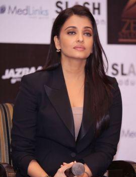 Aishwarya Rai at Film Jazbaa Promotions in New Dehli