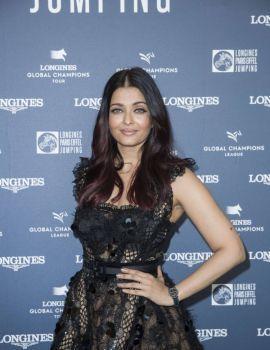 Aishwarya Rai at Longines Global Champions Tour in Paris 2018