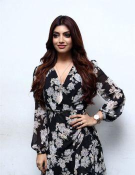 Tamil Actress Akanksha Puri Photos at Action Movie Press Meet