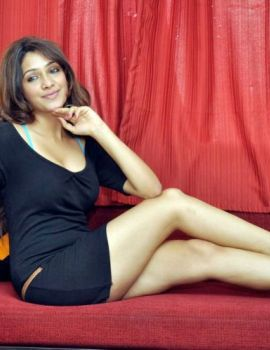Actress Akarsha in Hot Black Dress