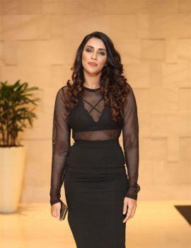 Akshara Gowda in Black Dress at Aha OTT Platform App Preview Launch