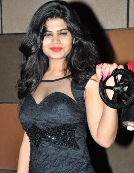 Telugu Actress Alekhya at Bruce Lee Movie Audio Release