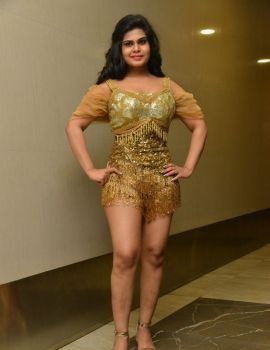 Telugu Actress Alekhya Dance Stills at KGF Movie Pre Release Function
