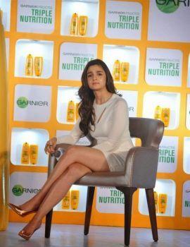 Alia Bhatt at the launch of new Garnier Fructis Triple Nutrition