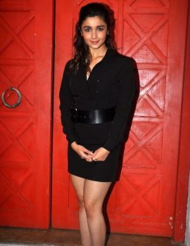 Alia Bhatt Latest Photos in Black Dress