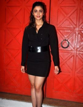 Alia Bhatt Latest Photos in Black Dress