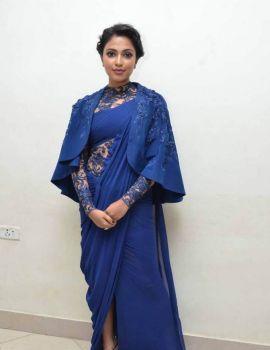 Amala Paul in Blue Dress at Pasanga 2 Telugu Movie Audio Launch