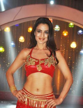 Amisha Patel Hot Red Dress Stills at Aakatayi Item Song Sets