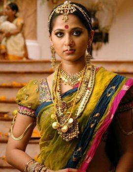 Anushka Shetty in a Traditional South Indian Saree