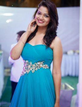 Ashwini Latest Photos in Blue Gown