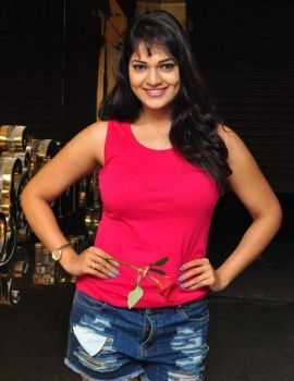 Ashwini Wearing a Denim Shorts in Photoshoot
