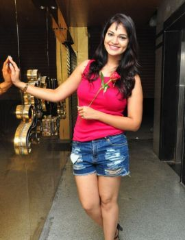 Ashwini Wearing a Denim Shorts in Photoshoot