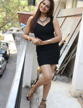 Aswini Latest Sizzling Stills in Black Dress