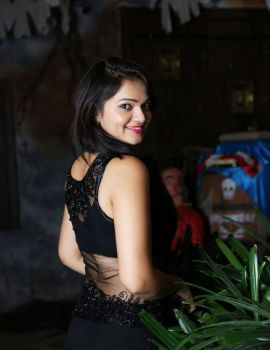 Telugu Actress Ashwini in Black Dress