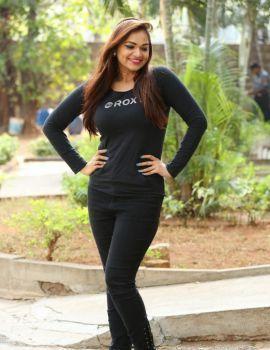 Telugu Actress Ashwini Latest Pictures in Black Dress