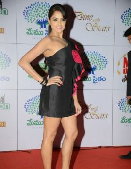 Asmitha Sood Stills at Memu Saitam Dinner with Stars Red Carpet