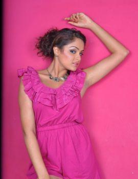 Telugu Actress Asmita Sood Photo Shoot Stills in Pink Dress