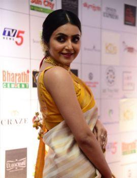 Avantika Mishra in Saree at Dadasaheb Phalke Awards South 2019 Red Carpet