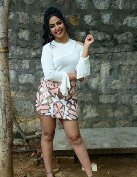 Avika Gor Photos in Short Dress at Raju Gari Gadhi 3 Trailer Launch