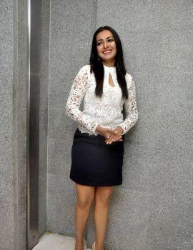 Catherine Tresa at Sarrainodu Movie Success Meet