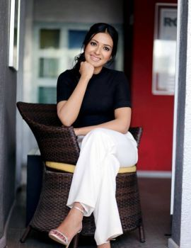 Telugu Actress Catherine Tresa Stills in Black Top