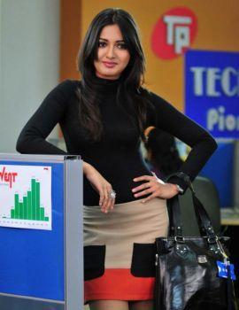 Telugu Actress Catherine Tresa Stills in Mini Skirt