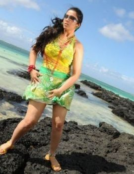Actress Charmi in Short Skirt