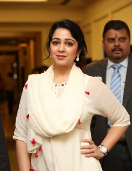 Charmi at Pink Ribbon Campaign Press Meet Held in Hyderabad