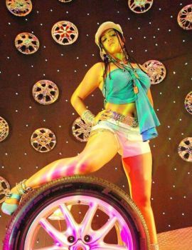 Charmi Hot Thigh and Navel Show