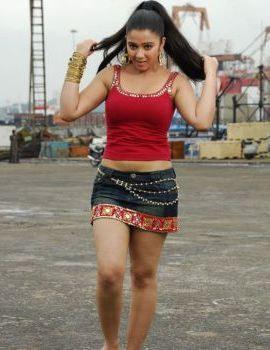 Charmi Hot Thigh Show in Short Skirt