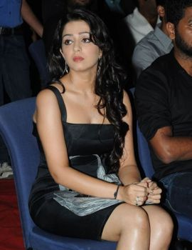 Charmi Kaur in Black Dress at South Scope Awards
