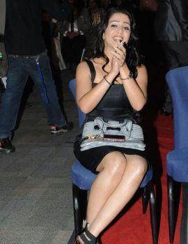 Charmi Kaur in Black Dress at South Scope Awards