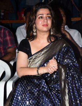 Charmi Kaur in Saree at Puri Jagannadh Birthday Celebration