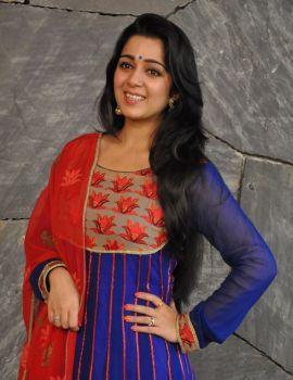 Charmi Kaur Stills at Jyothi Lakshmi Movie Interview