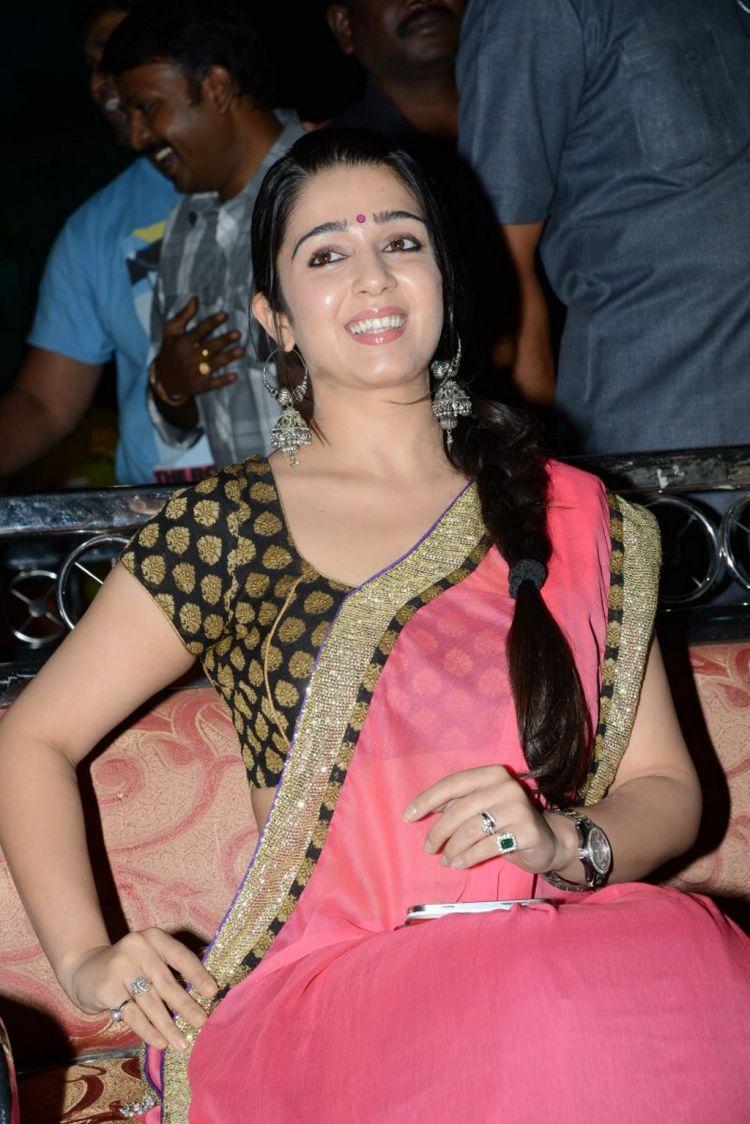 Charmi Latest Saree Photos at Potugadu Audio Release