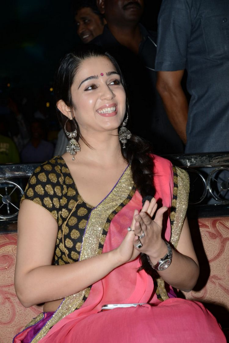 Charmi Latest Saree Photos at Potugadu Audio Release