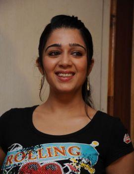 Telugu Actress Charmi at Santosham Awards Press Meet
