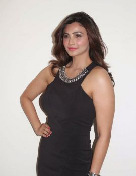 Actress Daisy Shah Latest Photos in Black Dress