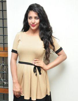 Telugu Actress Daksha Nagarkar at Hora Hori Movie Interview