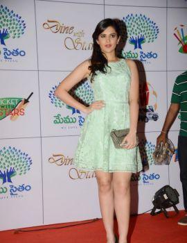 South Indian Actress Deeksha Seth Stills at Memu Saitham Dinner