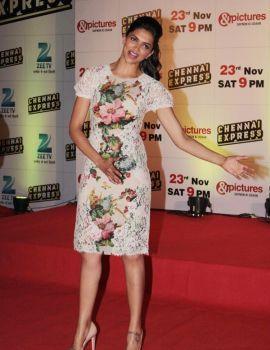 Deepika Padukone at ZEE TV Chennai Express Success Bash