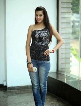 Diksha Panth in Black Dress at Hyderabad Marriott Hotel