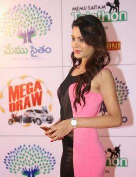 Diksha Panth Photos at Memu Saitam Dinner With Stars Red Carpet