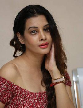 Telugu Actress Diksha Panth Stills at Maya Mall Pre Release Event