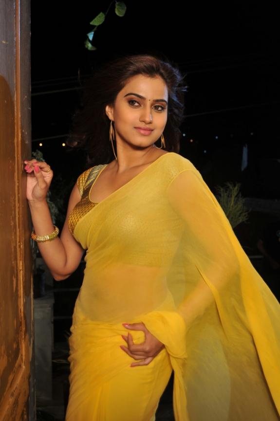 Dimple Chopade Stills in Transparent Yellow Saree